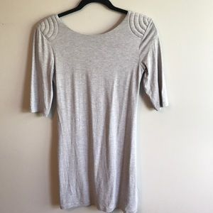 Bebe Heather Grey T-Shirt Dress